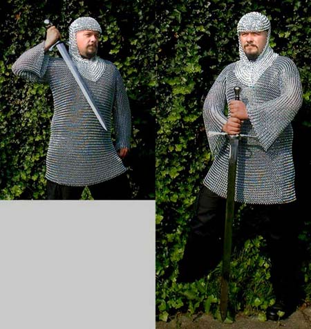 Medieval Chain Mail Coif, butted steel