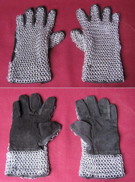 Paar Kettenhandschuhe für Mittelalter Rüstung