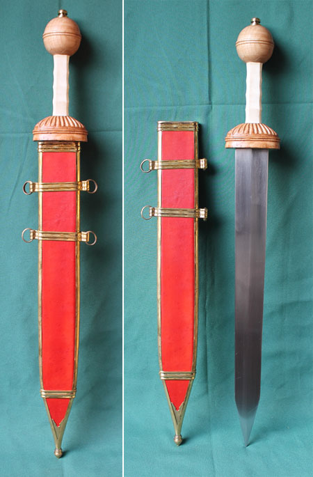 Roman Gladius with scabbard, Type Mainz