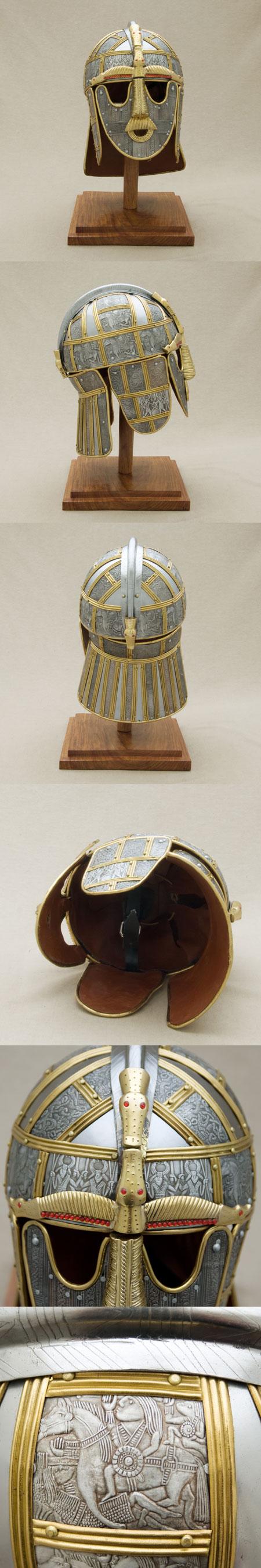 Helm der Angelsachsen, um 700AD, Sutton Hoo