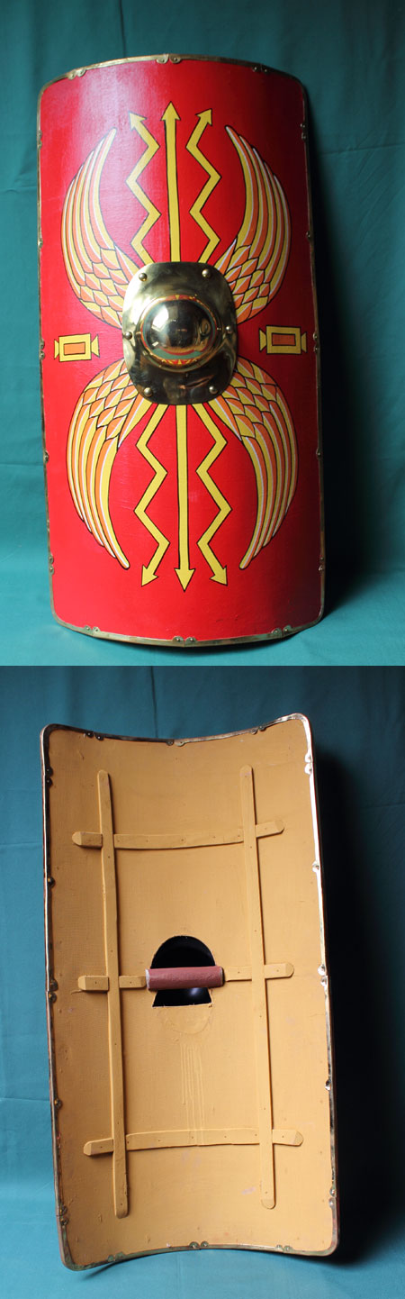 Roman Shield Scutum, Wooden,  Size M