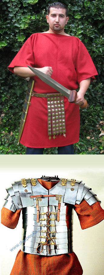 Red Tunic for Roman armour, wool