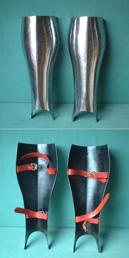 Schienbeinschutz, Eisen für Schaukampf