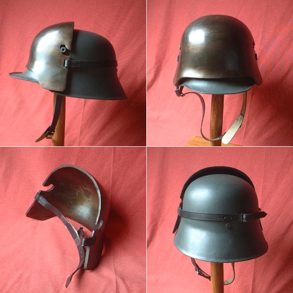 Stirnpanzer-Platte für deutschen Stahlhelm des 1. Wkriegs