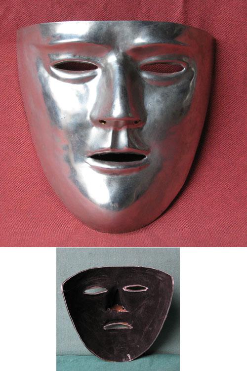 Gesichtsmaske für römischen Kavalleriehelm, verzinnt
