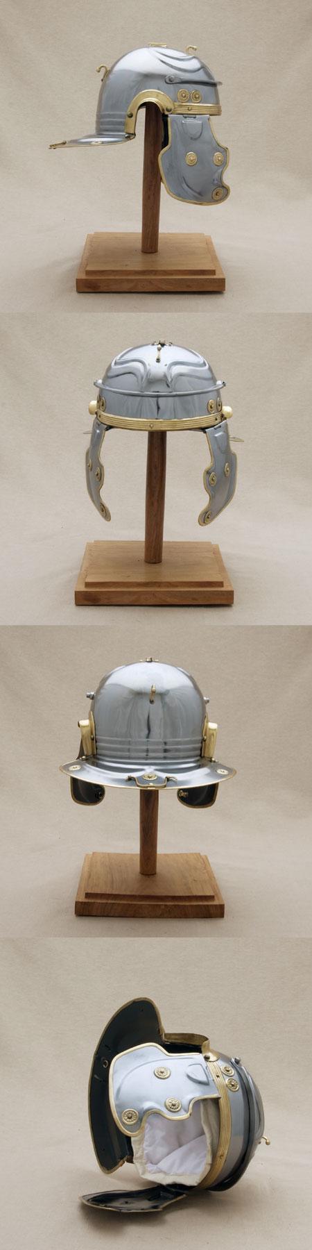 Roman legion helmet (100 AD), Gallic G, Weisenau