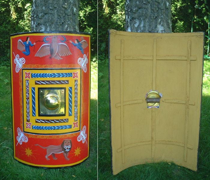 Roman rectangular shield scutum 200 to 50 AD