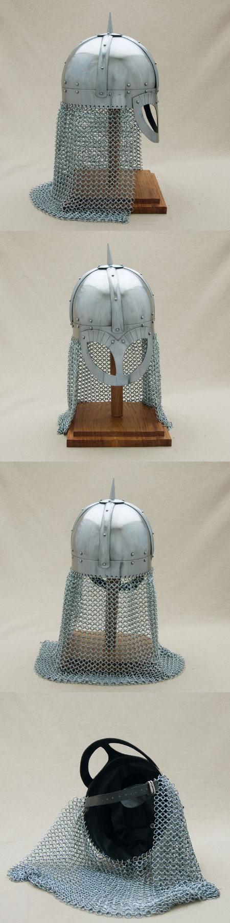 Gjermundbu Brillen Helm mit Brünne, Wikinger