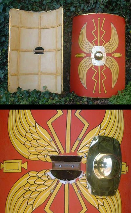 Roman rectangular shield - wooden