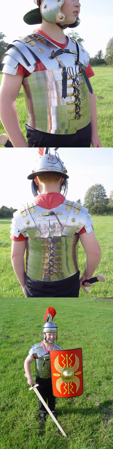 Roman lorica armour for children