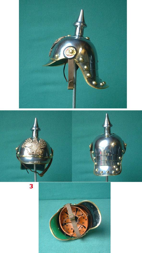 Miniatur-Helm: Preussen 19.Jhdt., Pickelhaube (Repro)