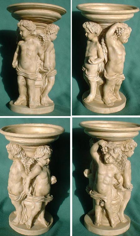 Centrepiece with putti, baroque, reproduction, big
