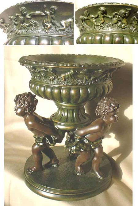 Baroque bowl, Bronze imitation