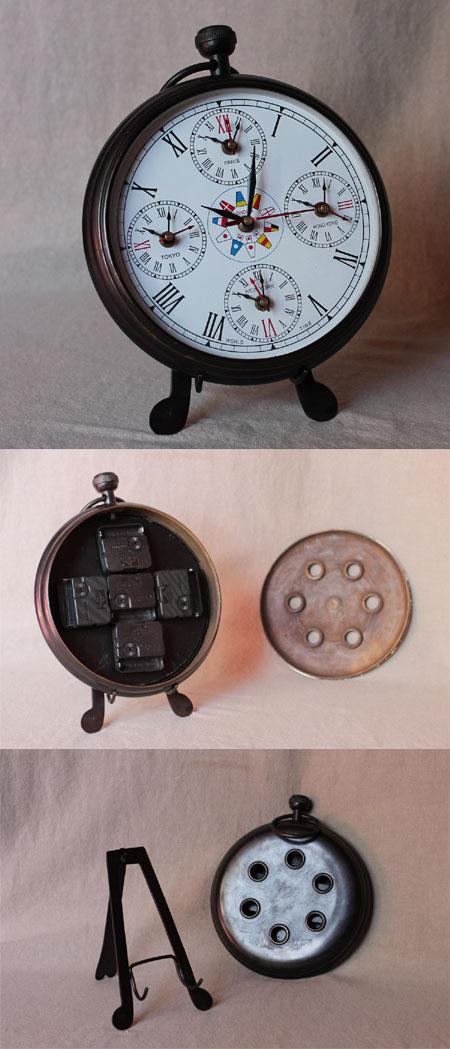Marine Uhr mit Ortszeit für 5 Weltstädte