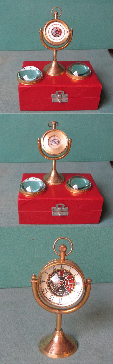 Kugeluhr für Betrieb mit Knopfbatterie, Steuer-Stand