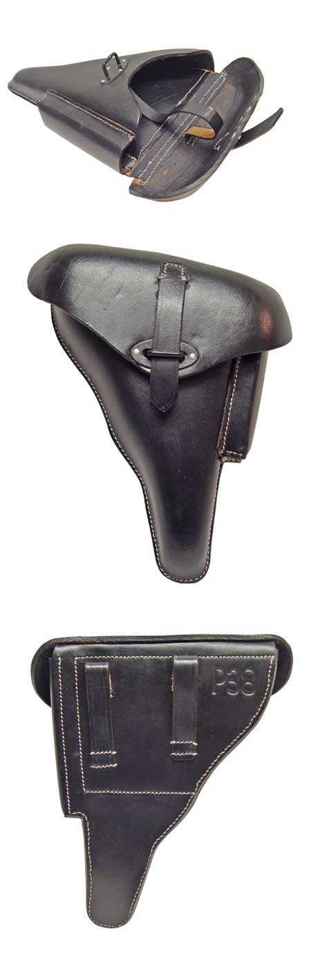 WWII P38 Holster - Soft Leather -BLACK