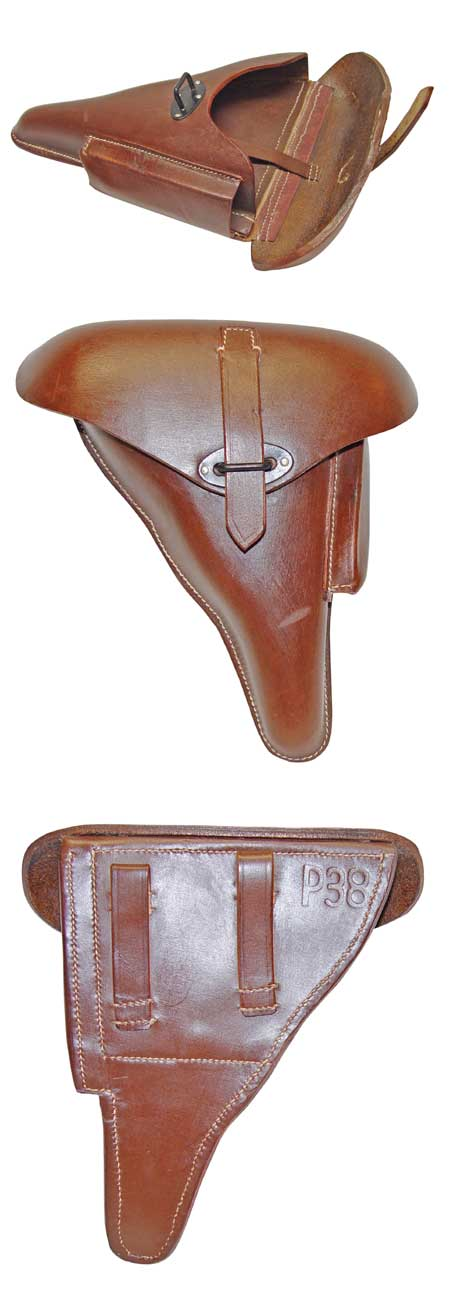 WWII P38 Holster - Soft Leather - Brown