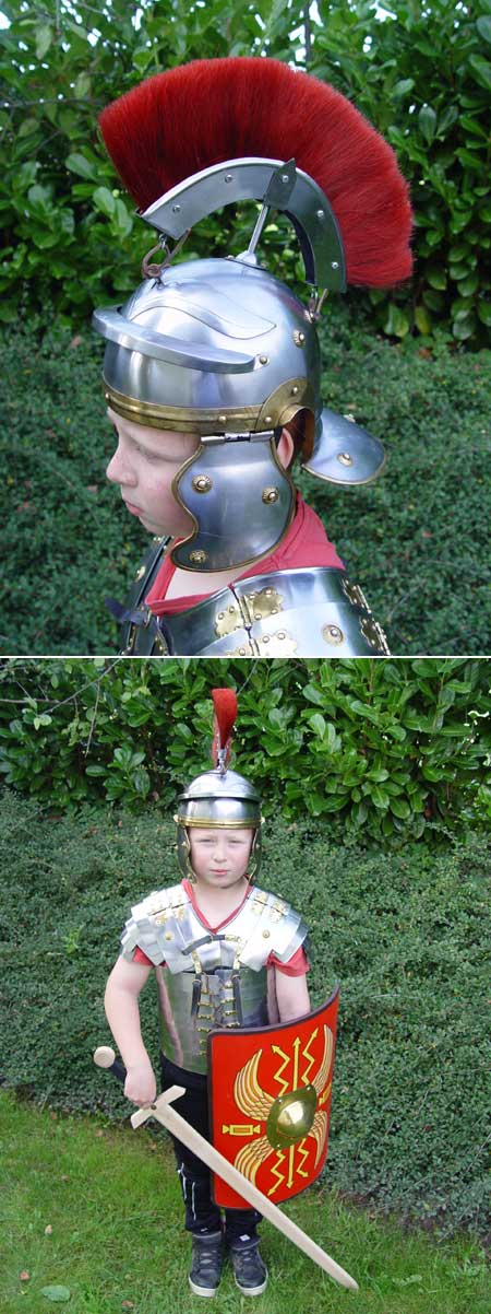 Roman officer's helmet, for children