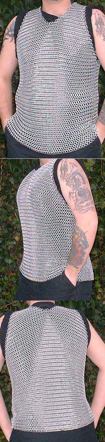 Chain Mail shirt / vest, no sleeves, size M