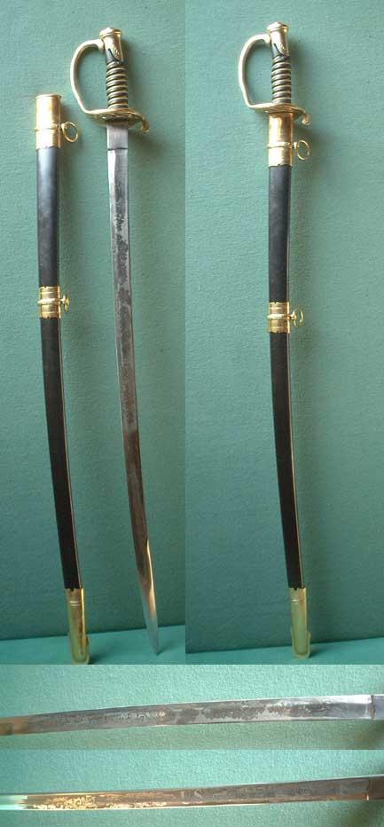 US Bürgerkrieg Kavallerie-Offiziers Säbel M 1850