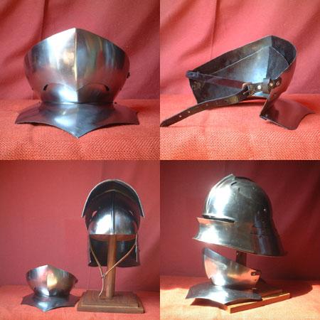Kinnschutz für Schaller Helm v.1480, Sigmund von Tirol