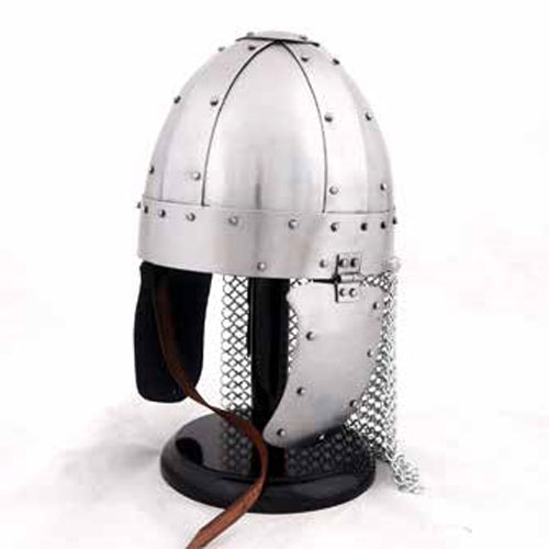Spangenhelm with neck protection
