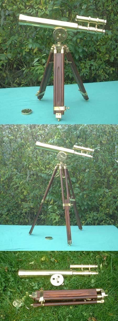Kleines Hafenmeister Teleskop mit Stativ, 30f