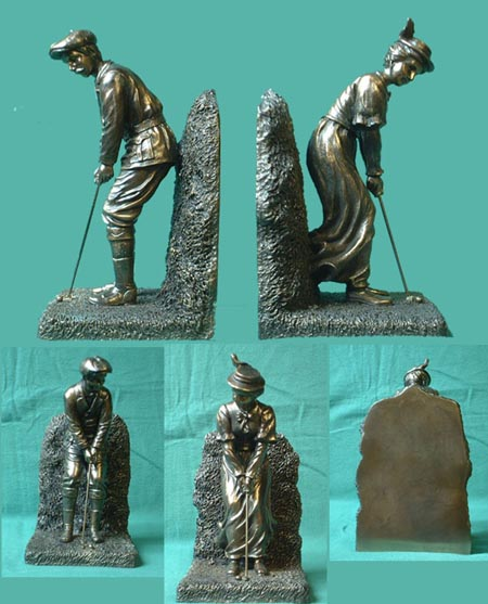 Golfer Bronze imitation booksticks from England