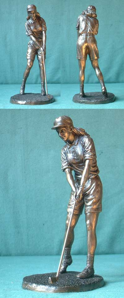 Golf player, Bronze Imitation