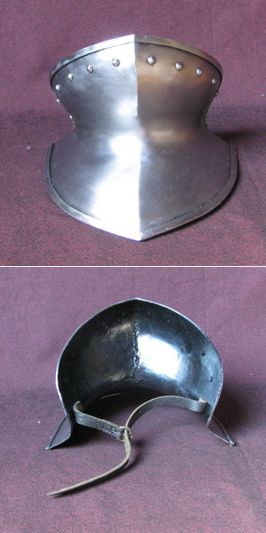 Medieval gorget, chin protection, suitable for reenactment