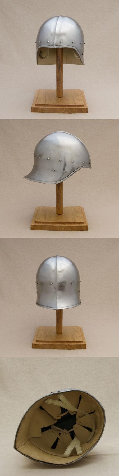 Open sallet helmet, late medieval