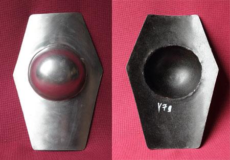 Stahlbuckel - rechteckig mit Rundkanten