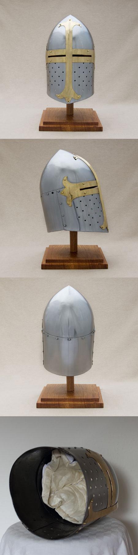 Kreuzfahrer großer Helm Zuckerhut-Form