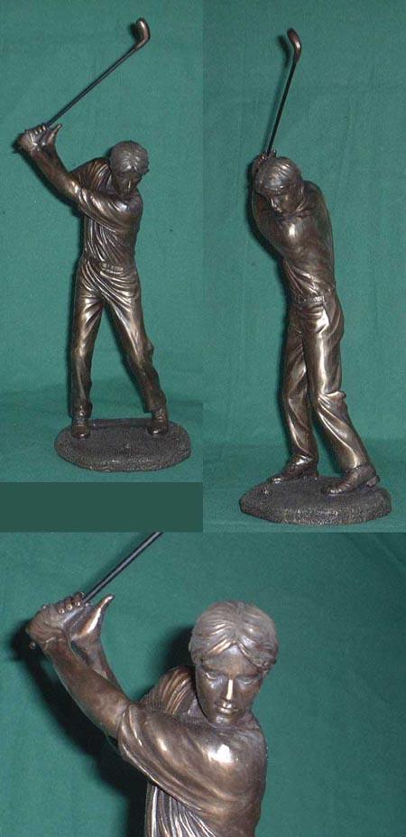 Golfspieler -tee off- Bronze Imitatguss