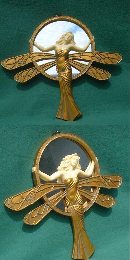 Kl. Jugendstil Wand -Spiegel, art nouveau