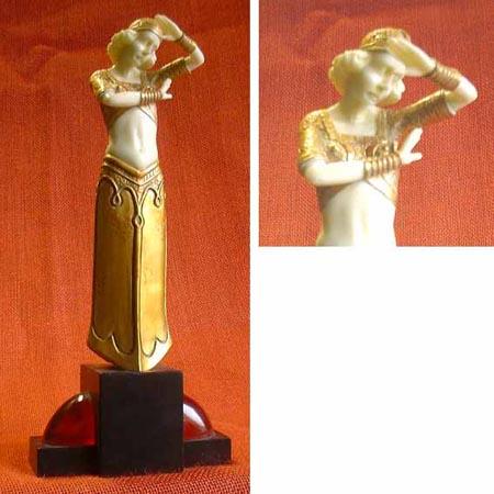 Art Deco Figur, Frankreich  20er Jahre, Nachguss