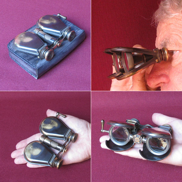 Messing Taschen-Opernglas mit Antik-Finish