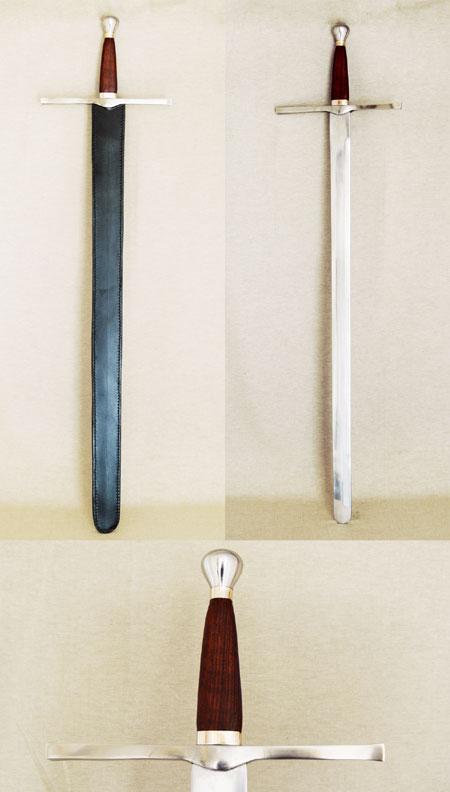 Spätgotisches Schwert mit Birnknauf