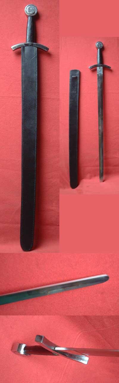 Spätgotisches Schwert mit Scheibenknauf