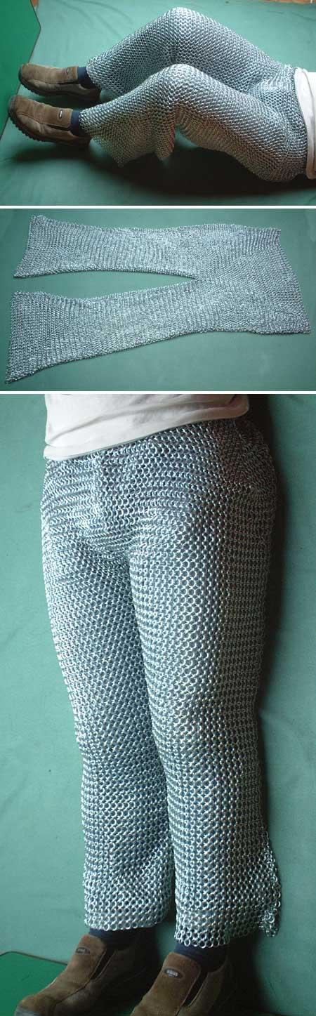 Kettenhose verzinkt, passend zum Kettenhemd