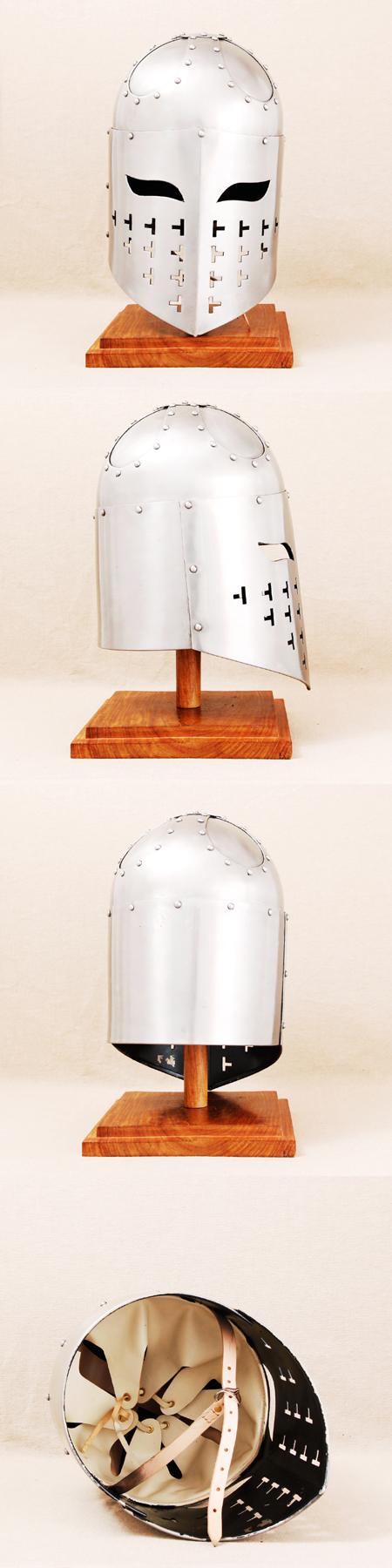 Starker, schwerer Mittelalter-Helm, schaukampffähig