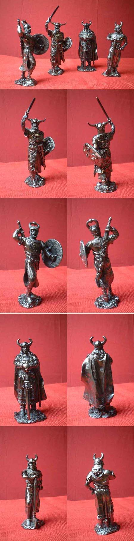 4 Wikinger / Normannen Figuren für Sammler