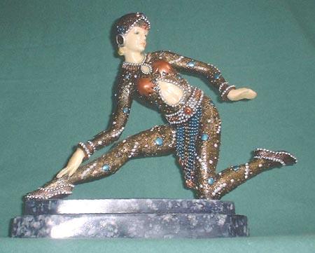 Art Deco Figur Frankreich ca. 1925, Nachguss