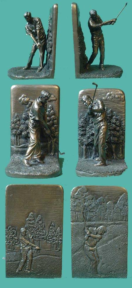 Golfer Bronze Imitat Buchstützen aus England