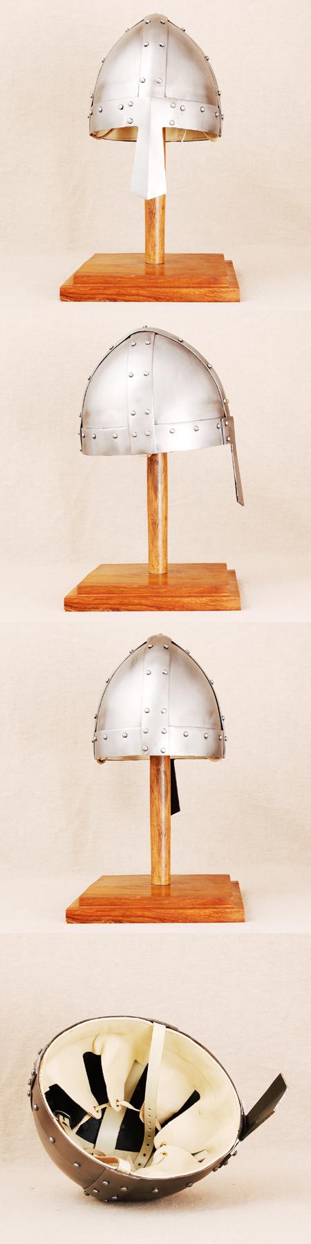 Starker Spangen-Helm Wikinger 900 AD f.Schaukampf