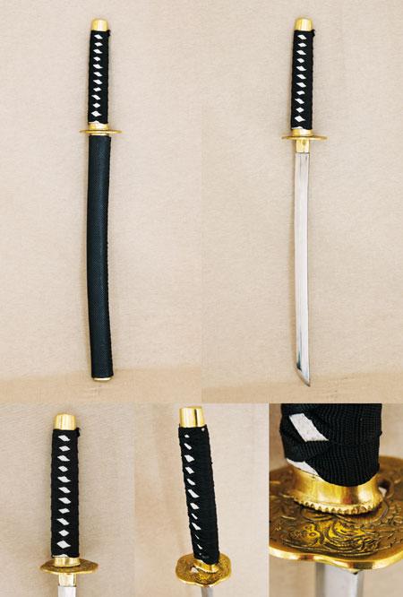 Samurai sword black, handmade, Katana