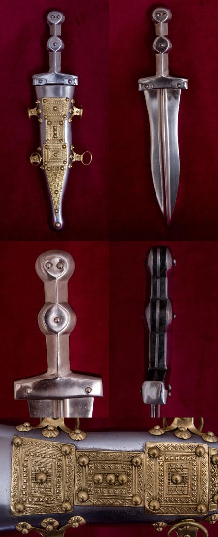 Roman pugio dagger type Pompeii, 1st cent A.D.