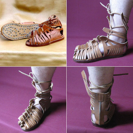 Shoes / sandals for Roman legionnaires, Caligae