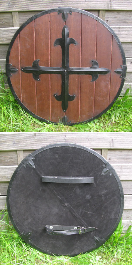 Medieval round wooden shield