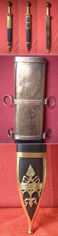 Roman Gladius short sword, type Pompeii, 1st cent A.D.